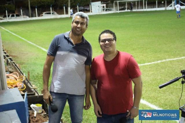 Equipe do site Edvaldo Silva também transmitiu a partida ao vivo. Foto: MANOEL MESSIAS/Agência