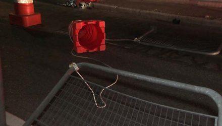Fio de nylon na Ponte Vila Maria — Foto: Reprodução/TV Globo.