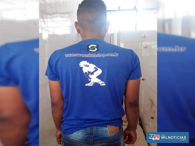 Acusado foi indiciado por tráfico de entorpecente, permanecendo à disposição da justiça. Foto: MANOEL MESSIAS/Agência