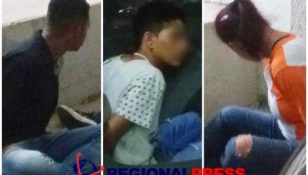 PM deteve trio suspeito de envolvimento na tripla tentativa de homicídio ocorrida em Araçatuba (Foto: Regional Press)