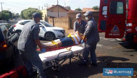 Autônoma sofreu escoriações no cotovelo e uma pancada forte na canela, ambos lado direito. Foto: MANOEL MESSIAS/Agência