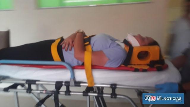 N. A. S. L., de 25 anos, residente no jardim Brasil, sofreu escoriações leves pelo corpo. Foto: MANOEL MESSIAS/Agência