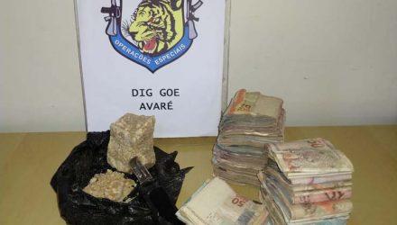Polícia apreendeu droga e dinheiro em Avaré (SP) — Foto: Polícia Civil/Divulgação.