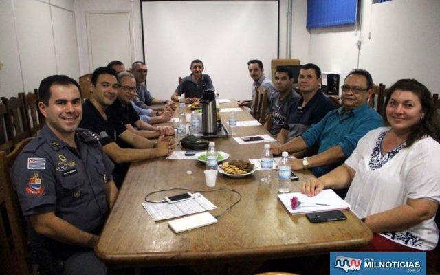Encontro do Conseg aconteceu na noite de quarta-feira, 04, na sala de reuniões da Delegacia Seccional de Andradina. Foto: MANOEL MESSIAS/Agência
