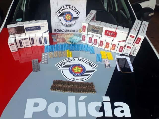 Vários produtos oriundos de descaminhos e contrabando foram apreendidos. Foto: DIVULGAÇÃO