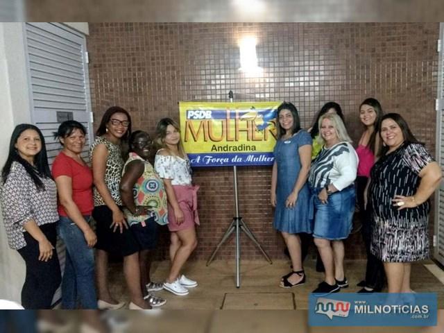 PSDB Mulher de Andradina se reuniu na última sexta-feira (30). Foto: DIVULGAÇÃO