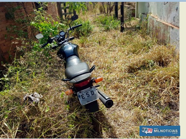 Chácara em que a moto foi abandonada está localizado na estrada que liga o jardim Europa ao presídio de Andradina. Foto: DIVULGAÇÃO