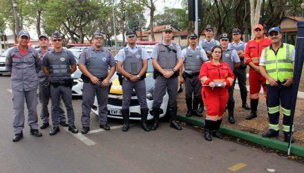União de forças de segurança para realizar a campanha de conscientização. Foto: MANOEL MESSIAS/Agência
