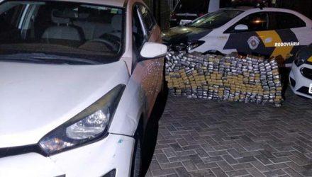 Policiais apreendem quase 300kg de maconha em carro abandonado em Araçatuba — Foto: Divulgação/Polícia Rodoviária