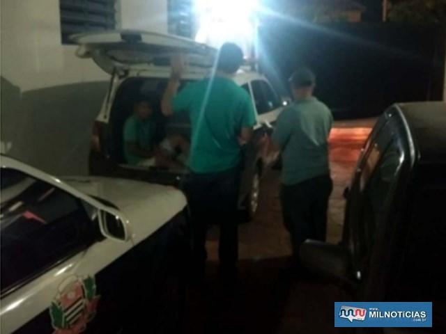Assassino confesso foi encaminhado à Delegacia de Policia e depois ao CDP de Nova Independência. Foto: DIVULGAÇÃO