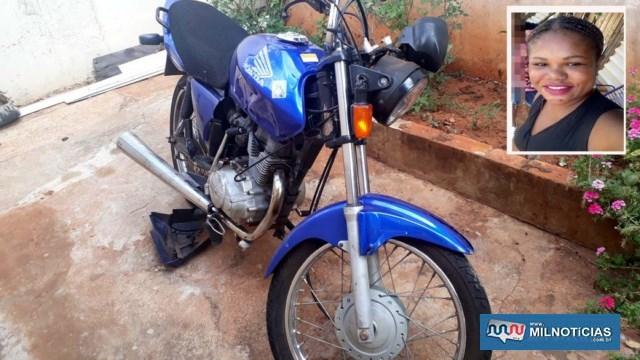 Motocicleta pilotada pela vítima (destaque), sofreu grandes prejuízos materiais, principalmente do seu lado direito; Foto: MANOEL MESSIAS/Agência
