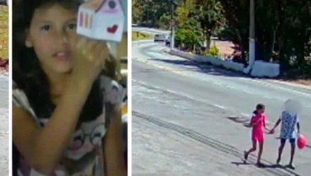 Vídeo mostra menina Raíssa andando com adolescente antes de ser morta. Foto: Reprodução