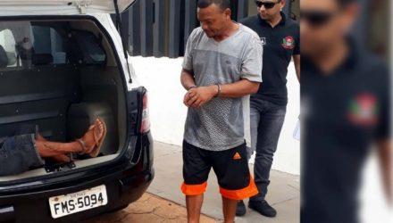 Tião Ortega., de 41, acusado de tentar matar o sobrinho, foi preso pela PM, permanecendo à disposição da Justiça. Foto: MANOEL MESSIAS/Agência