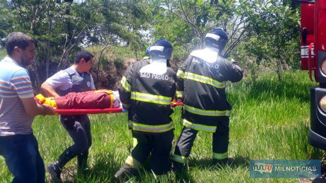 Operação de socorro às 5 vítimas foi feito por várias forças policiais e voluntários. Foto: MANOEL MESSIAS/Agência