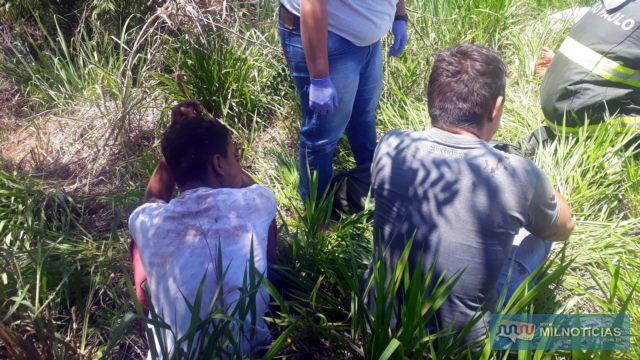 Homem de 35 anos (dir.), esposo da mulher grávida, sofreu ferimentos leves. Foto: MANOEL MESSIAS/Agência
