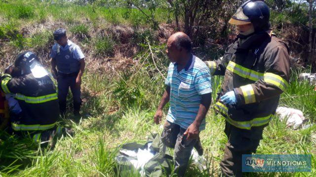 Homem de 57 anos era quem dirigia o Fiat Uno quando aconteceu o acidente. Foto: MANOEL MESSIAS/Agência