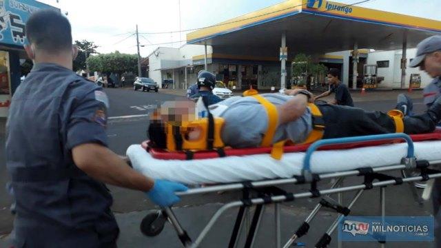Funcionário municipal andradinense sofreu escoriações e contusões pelo corpo, felizmente leves, foi medicado e liberado. Foto: MANOEL MESSIAS/Agência