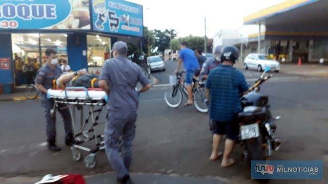Acidente aconteceu no cruzamento das ruas Paes Leme com Santos Dumont, centro. Foto: MANOEL MESSIAS/Agência