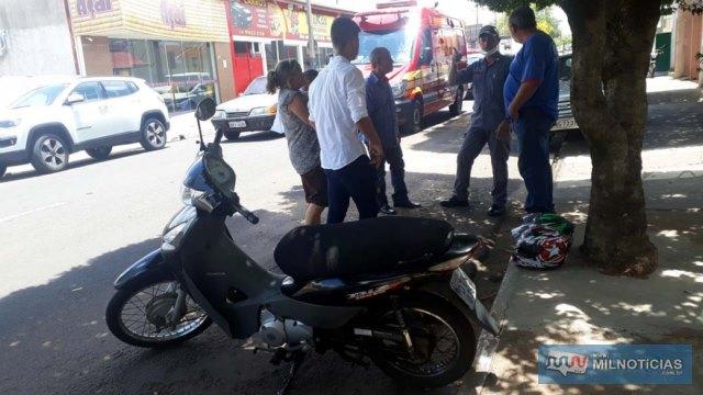 Motoneta Biz sofreu pequenas avarias e não apresentou problemas mecânicos após o acidente. Foto: MANOEL MESSIAS/Agência