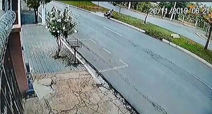 Acidente em Cuiabá. — Foto: Câmeras de segurança.