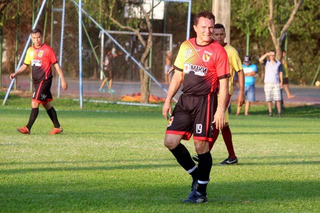 Ex-jogador profissional Sinval, do Guaporé Associados, fez uma bela partida. Foto: MANOEL MESSIAS/Agência