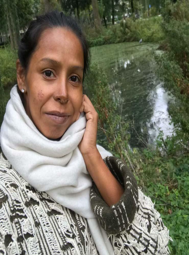 Patrícia de Oliveira dos Santos deixou o Brasil no dia 28 de setembro para encontrar o namorado holandês — Foto: Arquivo Pessoal.