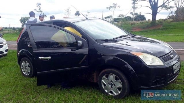 Veículo Ford Fiesta dirigido pelo acusado foi apreendido pela Polícia Civil. Foto: MANOEL MESSIAS/Agência
