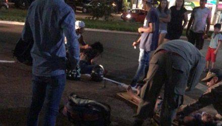 As três vítimas estavam na mesma moto — Foto: Redes sociais.