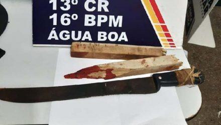 Armas utilizadas no crime foram apreendidas. — Foto: PM-MT.