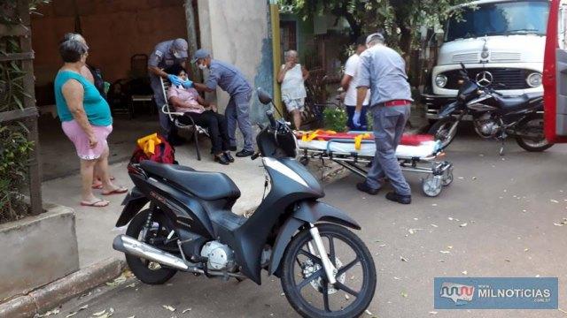 Motoneta sofreu pequenas avarias no acidente. Fotos: MANOEL MESSIAS/Agência