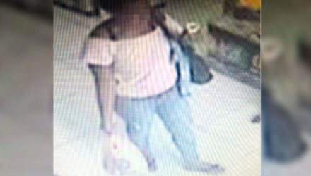 Mulher foi flagrada cometendo o delito e depois fugiu, sem ser localizada. Foto:  DIVULGAÇÃO