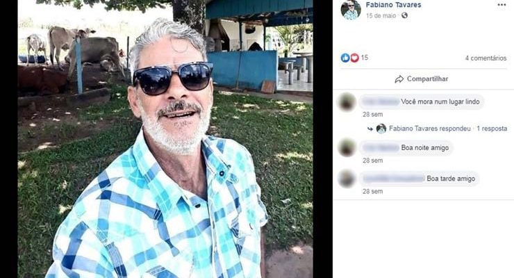 Idoso é encontrado morto e amarrado no sítio dele em Garça — Foto: Facebook/Reprodução.