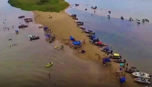 Praia do Sol onde os paranaenses morreram afogados. (foto: colaboração)