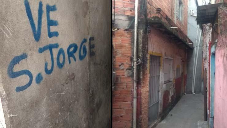 Fotos feitas por moradores mostram viela onde homem foi baleado no dia 1º em Heliópolis — Foto: Arquivo pessoal.