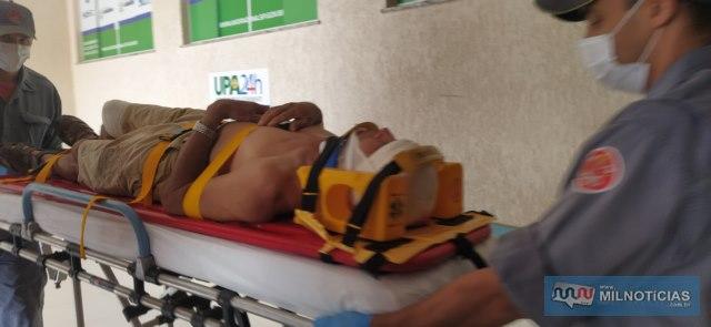 Aposentado sofreu escoriações pelo corpo e corte no couro cabeludo. Foto: MANOEL MESSIAS/Agência