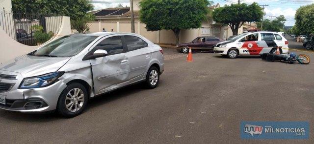 Acidente aconteceu depois que aposentado atravessou sem parar a sinalização de trânsito do local (PARE). Foto: MANOEL MESSIAS/Agência