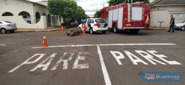 Mesmo cruzamento já registrou outros 4 acidentes, um deles bastante grave envolvendo um comerciante da cidade. Foto: MANOEL MESSIAS/Agência