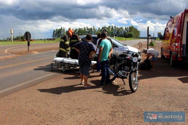 Acidente aconteceu quando enfermeira contornava trevo de acesso ao aeroporto e interceptou trajetória da motocicleta. Foto: MANOEL MESSIAS/Agência