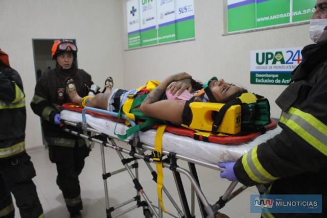 Ana Carolina Cristofani, de 23 anos, foi a vítima mais grave desse grave acidente. Foto: MANOEL MESSIAS/Agência