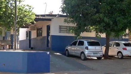 Pelotão da Polícia Militar que sofreu atentado na madrugada deste sábado (25), em Campo Grande. — Foto: TV Morena/Reprodução.