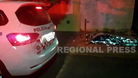 Um homem morreu e o outro foi ferido a tiros em Araçatuba. Foto: RP10