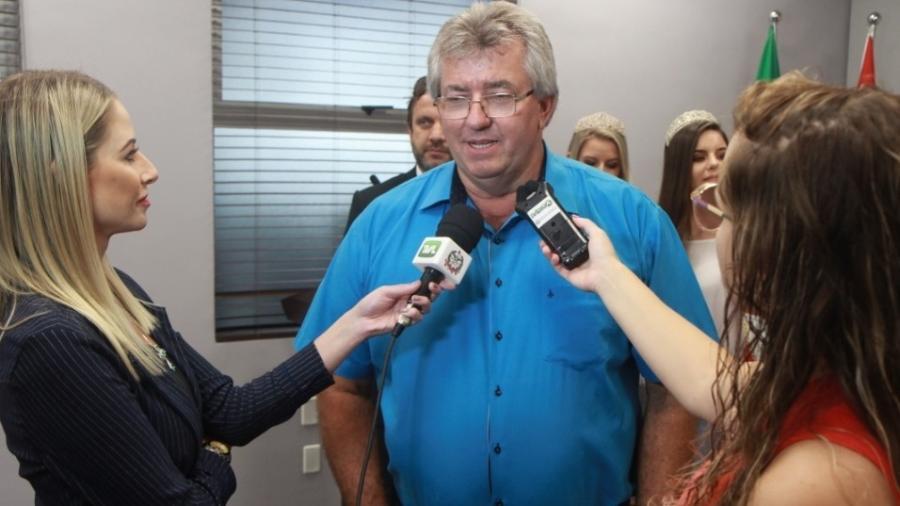 O prefeito de Imbuia, João Schwambach (MDB), de 59 anos, foi assassinado a tiros nesta quarta-feira (8). Foto: Divulgação/Prefeitura de Imbuia