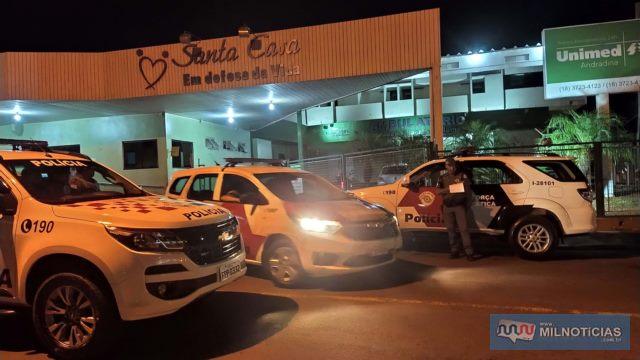 Algumas vítimas e o criminoso foram encaminhados ao Hospital da Unimed, em Andradina, Foto: MANOEL MESSIAS/Mil Noticias