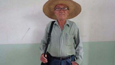 Manoel Ribeiro dos Santos, de 78 anos, morreu após ser picado por abelhas — Foto: Reprodução.