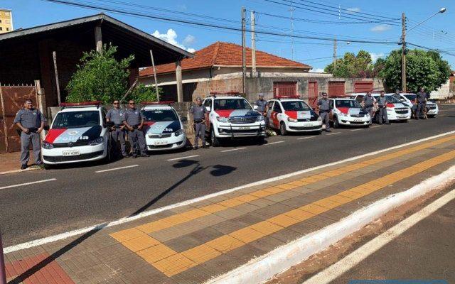 Operação foi realizada em conjunto entre as Polícias Civil e Militar, com apoio do Canil da PM de Araçatuba. Foto: DIVULGAÇÃO/PM