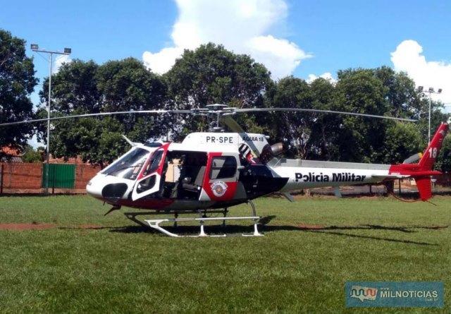 Ação de combate ao crime contou com apoio do Canil e do Helicóptero Águia da PM de Araçatuba. Foto: DIVULGAÇÃO/PM