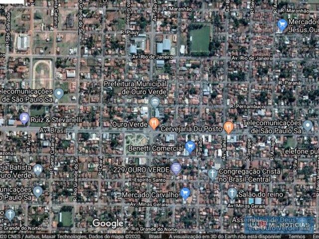 Caso aconteceu na cidade de Ouro Verde. Foto: Google Maps/Reprodução
