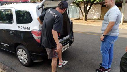 Técnico de som foi capturado por força de mandado de prisão expedido pela Comarca de Andradina. Foto: MANOEL MESSIAS/Agência