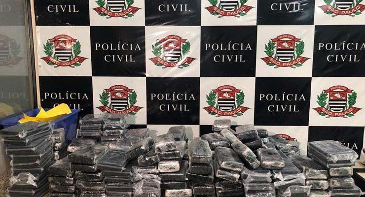 Denarc apreende 205 quilos de drogas no Jardim Planalto, em Suzano — Foto: Polícia Civil/Divulgação.