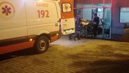 Vítima foilevada pelo SAMU do PSM para a Santa Casa de Araçatuba. Foto: Regional press